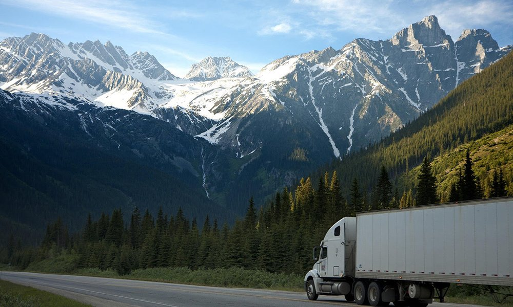 trucking hemp through the mountains