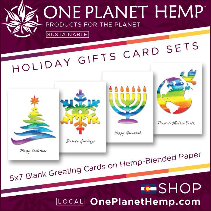 One Planet Hemp Holiday Cards